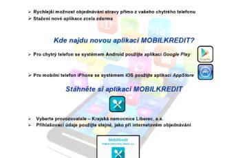 Mobilní objednávání Kredit