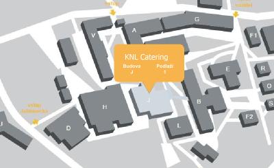 Mapa areálu KNL Catering s.r.o.