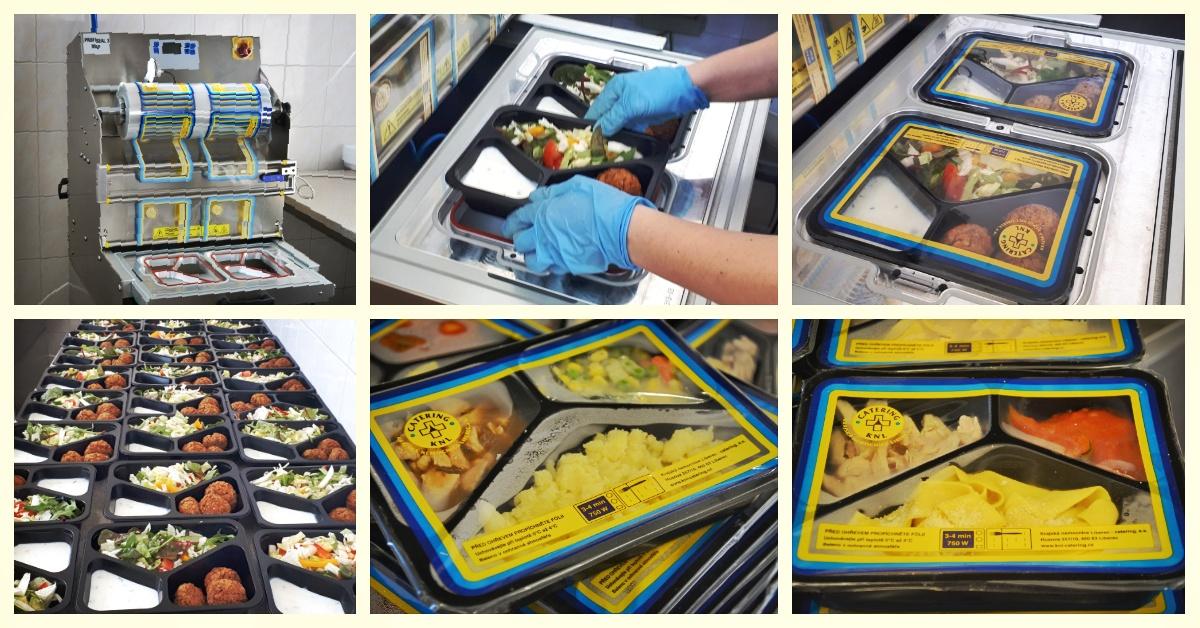 Třetí linka na balení chlazené stravy