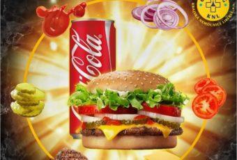 Burger menu + Coca Cola