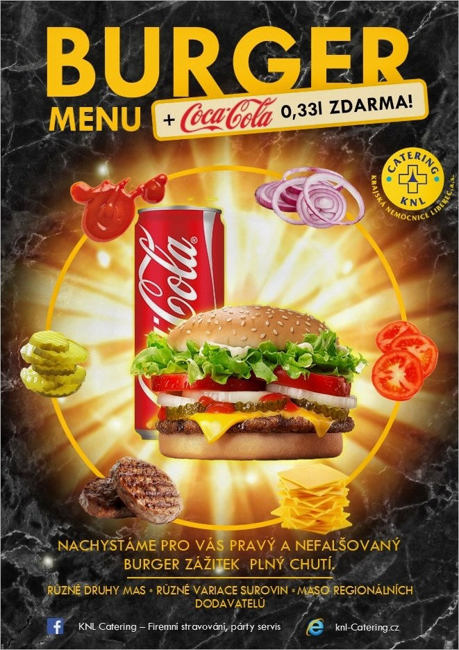 Burger menu + Coca Cola