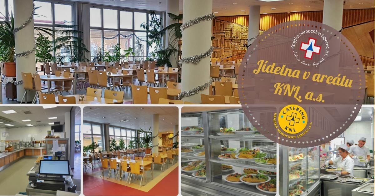 Jídelna v areálu Krajské nemocnice Liberec