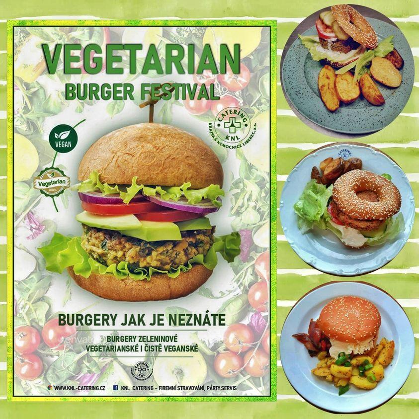 Burger vegetarián menu